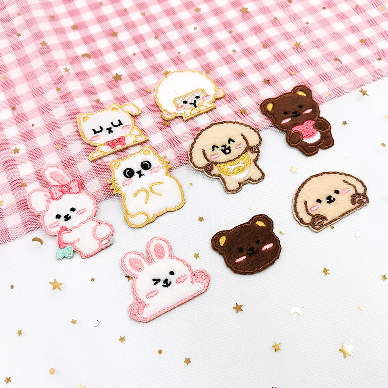 Cute Cartoon Animal Embroidery Patches for Personalizing Clothes and Bags