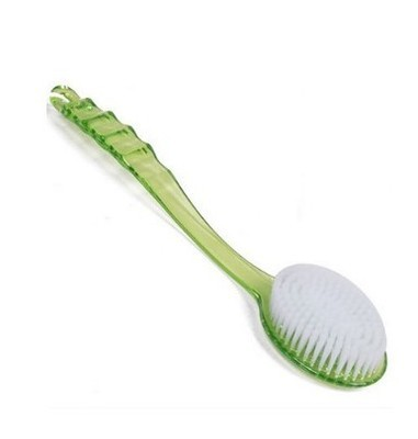 Simple Solid Color Bath Brush with Handle for Daily Use