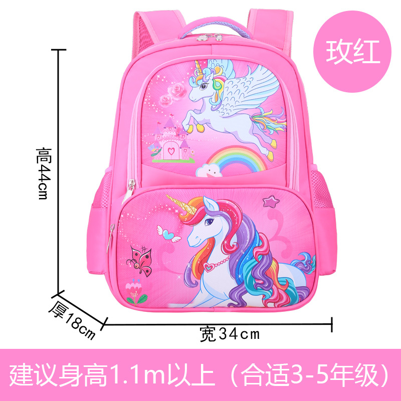 Magical Unicorn Cartoon Printed Backpack for Girls Everyday Use