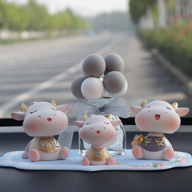 Adorable Cow Car Ornament for Decorating Car Interior