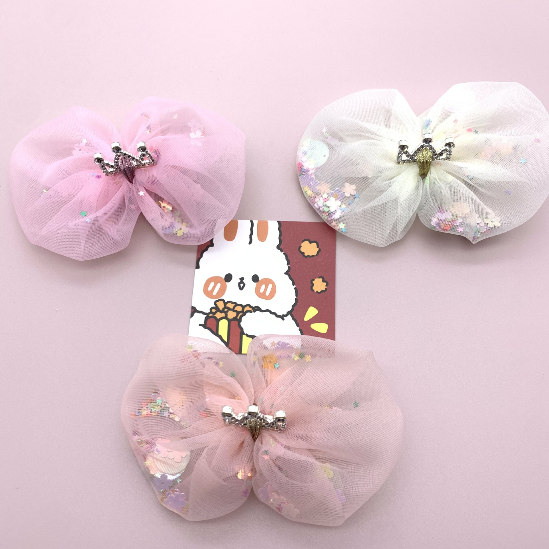Adorned Fabric Cloth Crown Hairpin for Princess Look