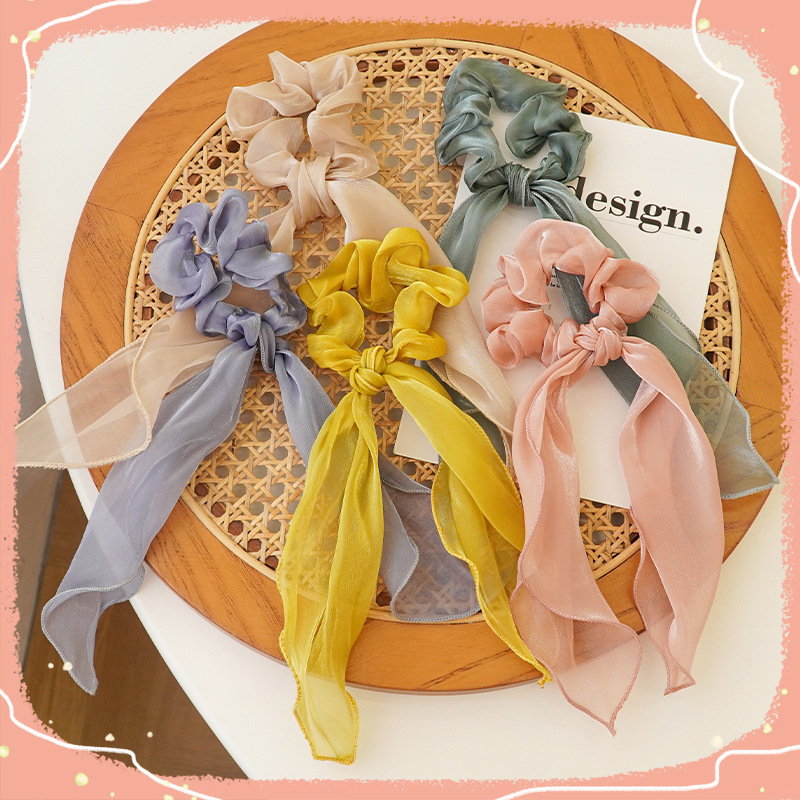 Charming Solid Color Scrunchies for Customer Appreciation Gifts