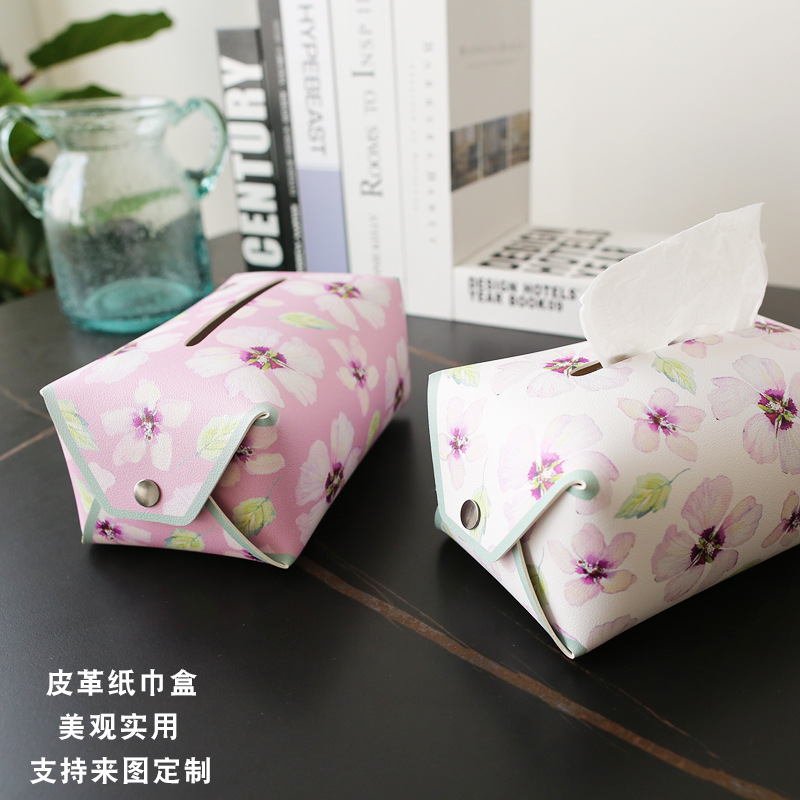 Glossy Floral Synthetic Leather Tissue Cover for Long Drive Must Have