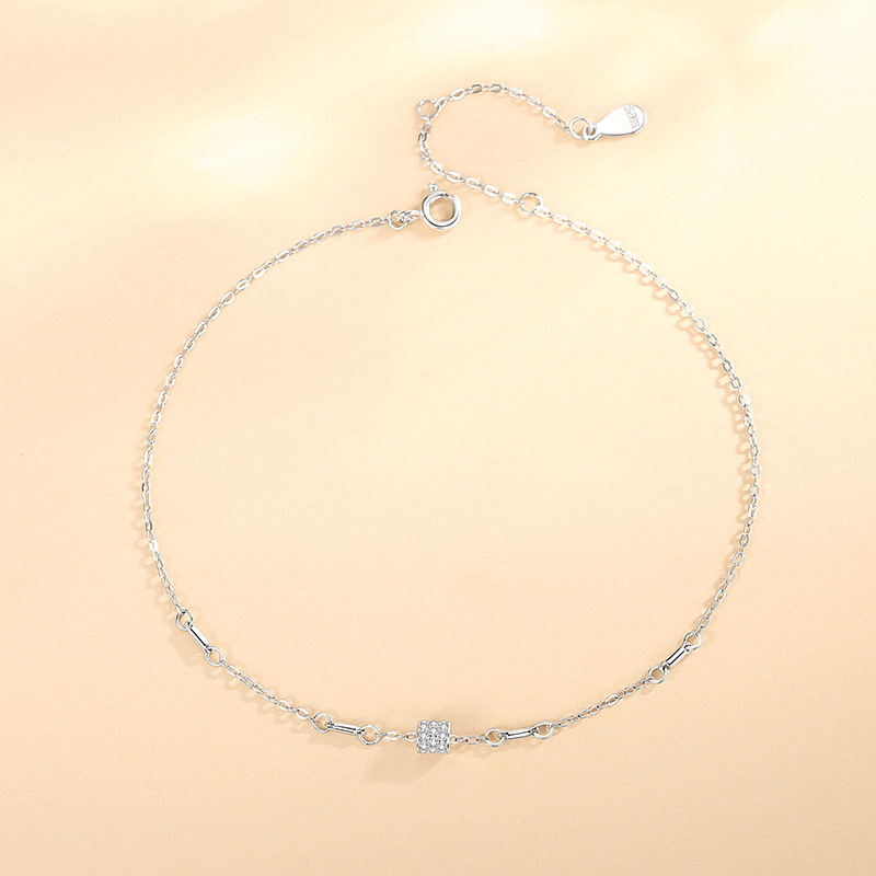 Elaine Silver-Plated Anklet for Everyday Wear