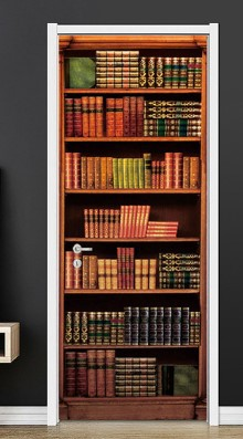 Amazing 3D Self-Adhesive Bookshelf Sticker for Library Rooms