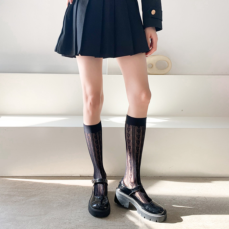 Thin Lace Trouser Socks for Cute Outfits