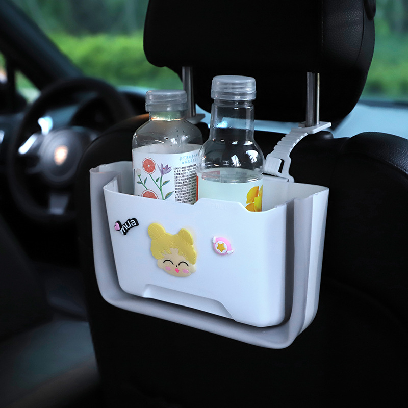 Multifunctional Plastic Car Hanging Storage Box for Bottles and Snacks