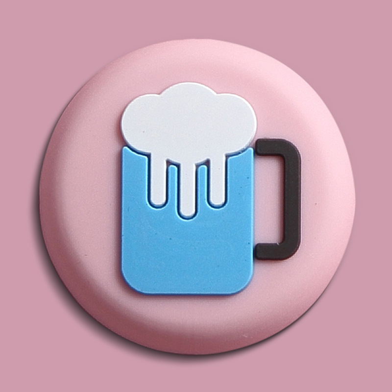 Cartoon Button Ref Magnets for Posting Receipts and Notes