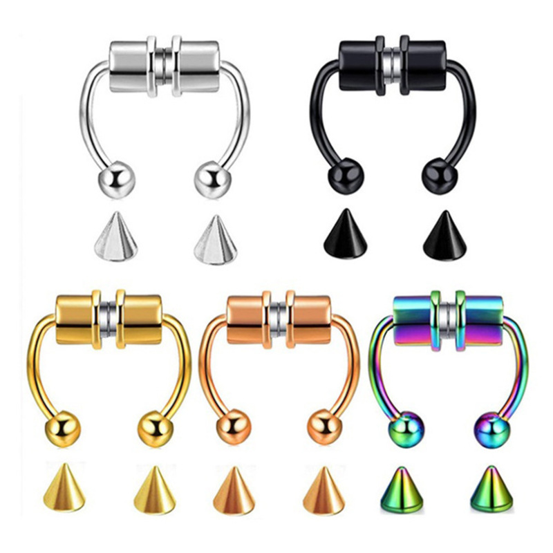 Bright Color Stainless Steel Nose Ring for Fashion Accessories and Special Events