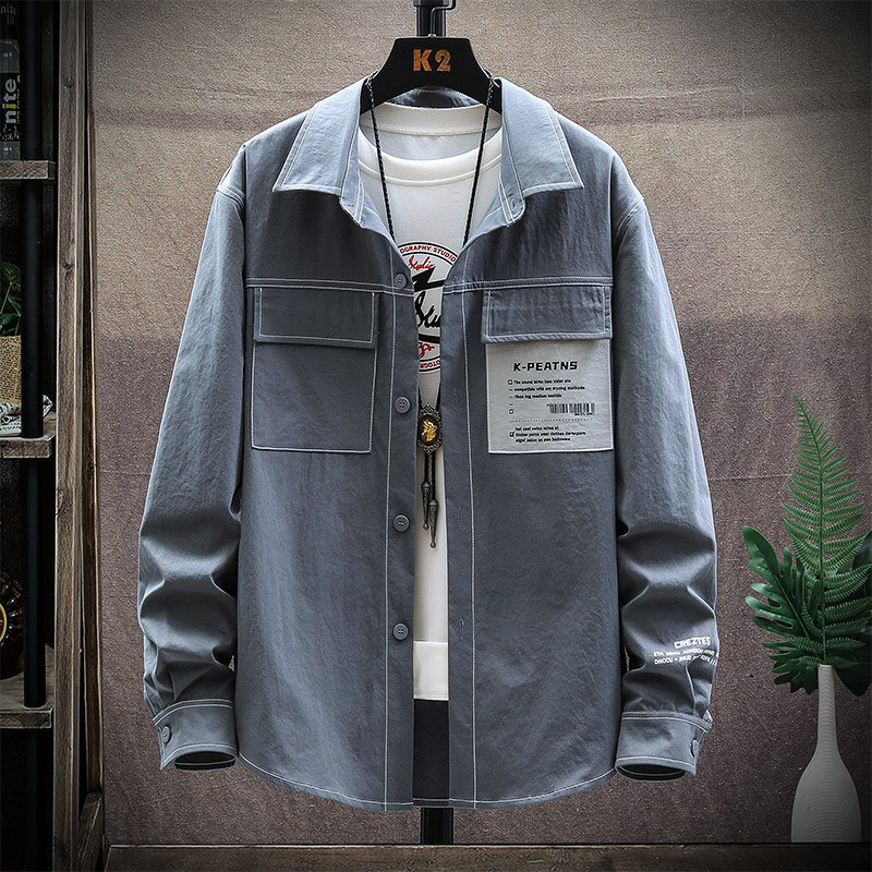 Korean Fashion-Inspired White Outlined Oversized Jacket for Trendy Outfits