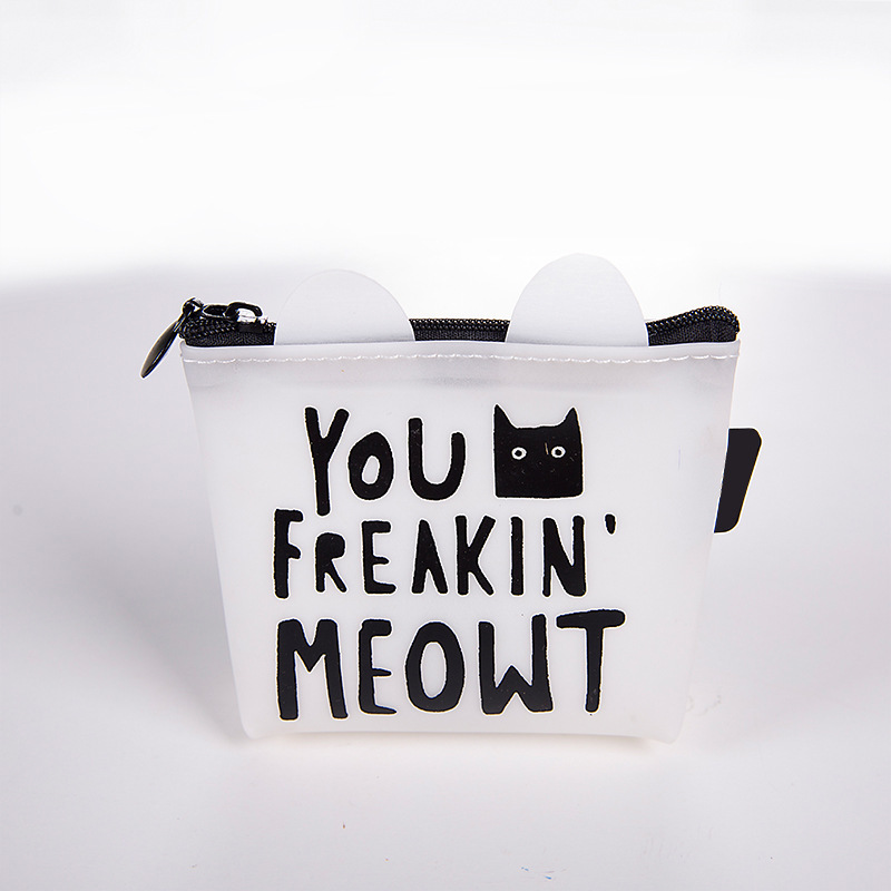 Cute Black And White Coin Purses for Cat Lovers