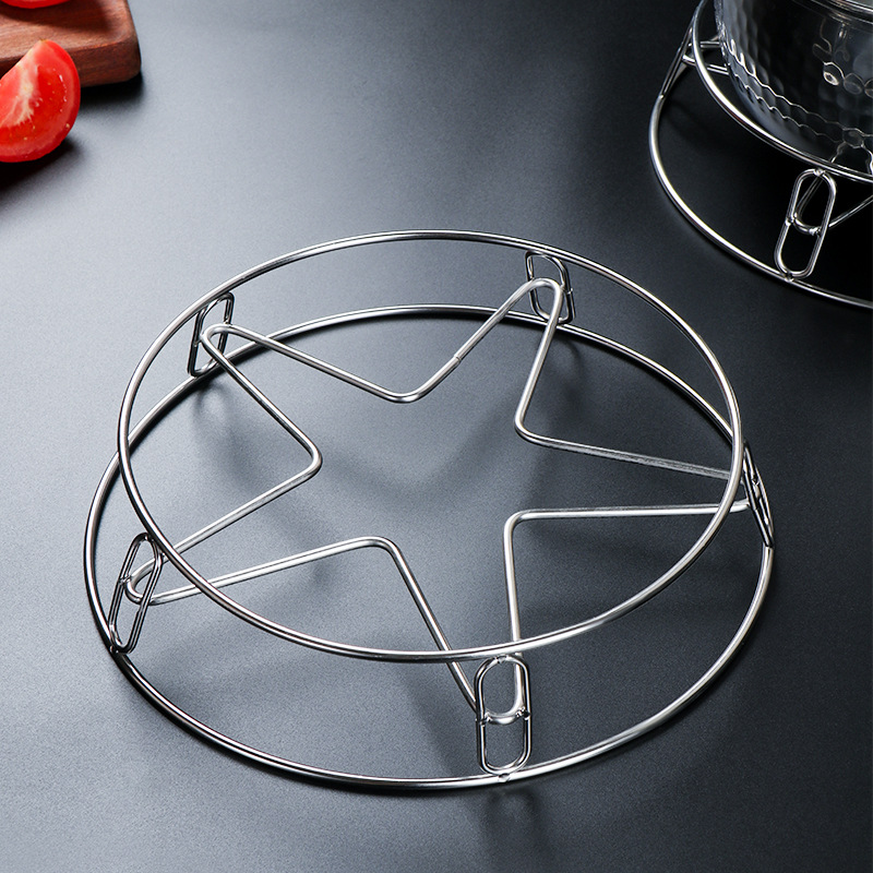Multi Functional Heat Insulated Stainless Steel Pot Rack for Kitchen Use
