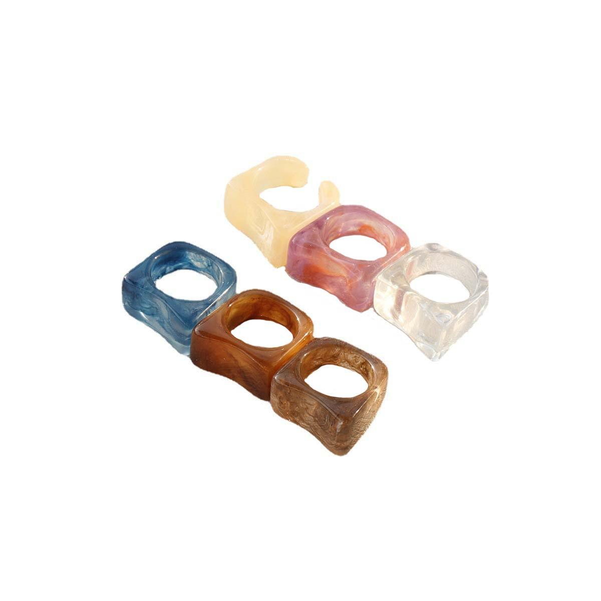 Trendy Resin Ring for Chic Fashion Accessories