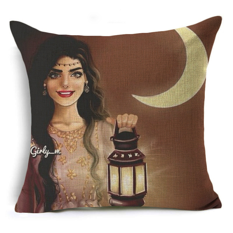 Stunning Woman Print Pillow Case for Living Room Linens