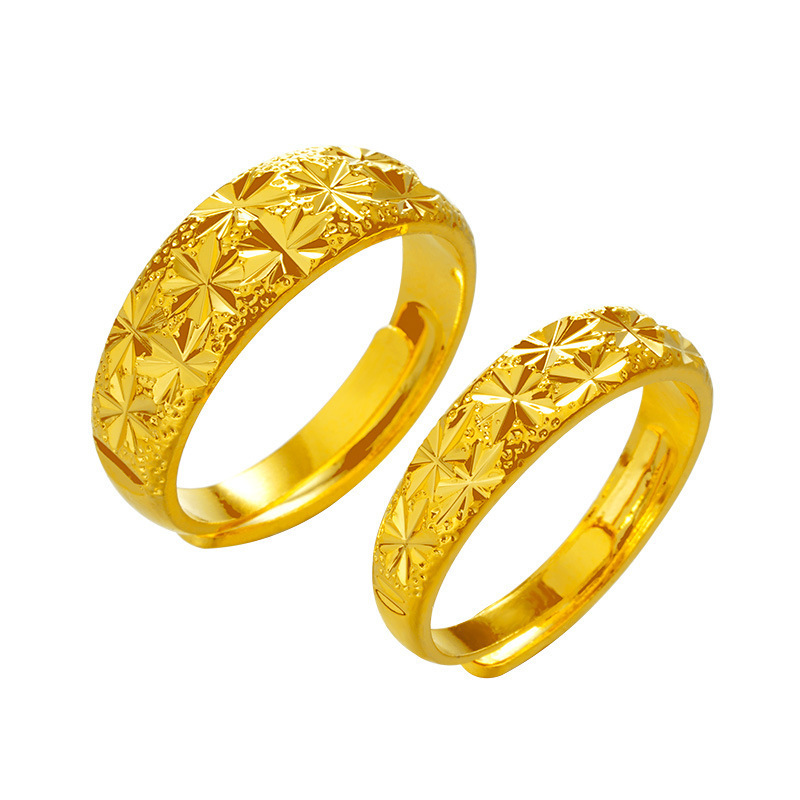 Adjustable Gold Plated Ring for Elevating Basic Look