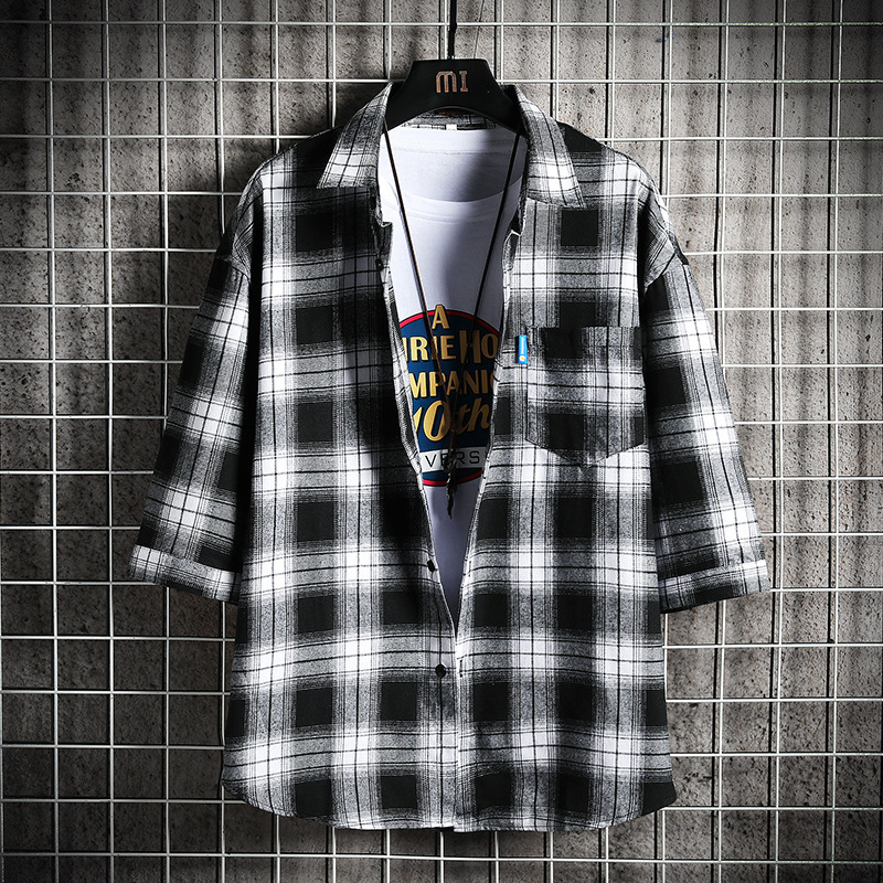 Brushed Plaid Shirt Jacket for Casual Wear