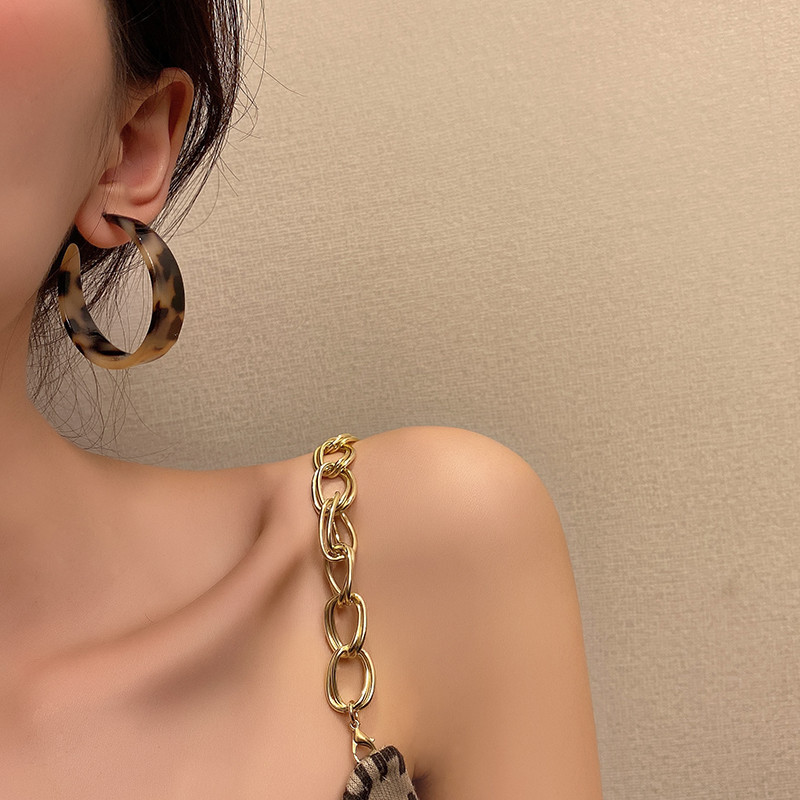 Trendy Leopard Print Hoop Earrings for Matching Stylish Outfits
