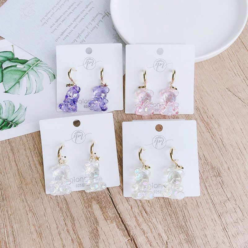 Modish Solid Color Bear Earrings for Matching with Cute Outfit