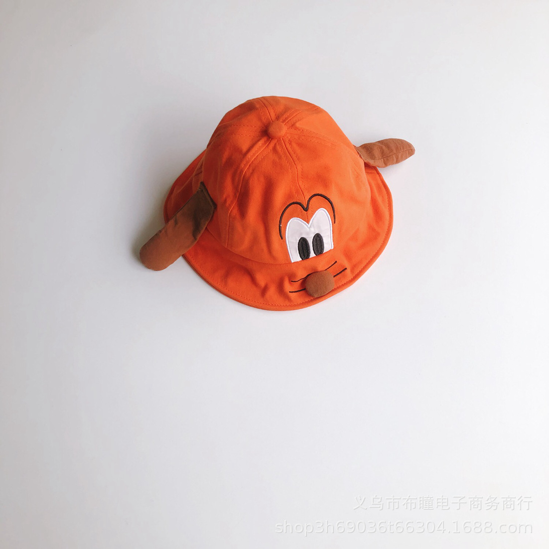 Adorable Cotton Dog Design Bucket Hat for Cute Outfits