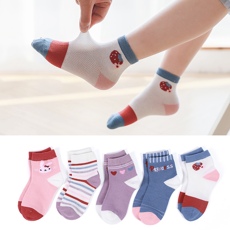 Cute Combed Cotton Cartoon Printed Socks for Babies