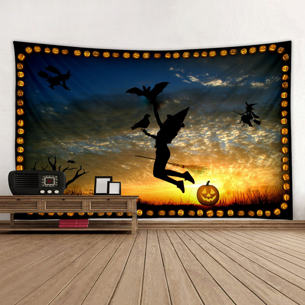 Stunning Graphic-Print Tapestry for Halloween Decor