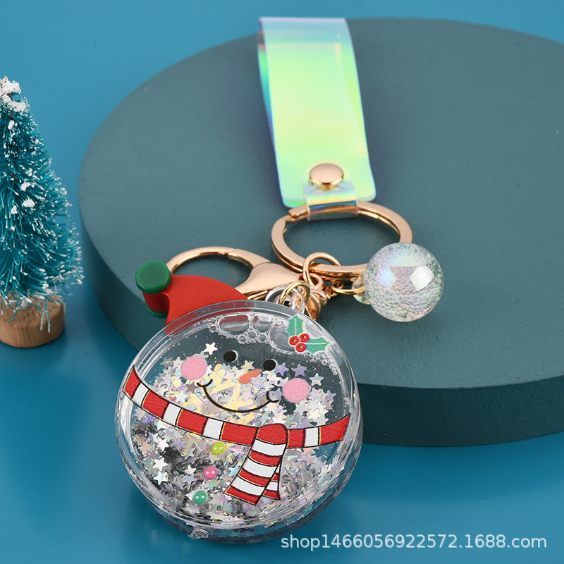 Adorable Christmas-Inspired Keychain for Accessorizing Bags and Wallets