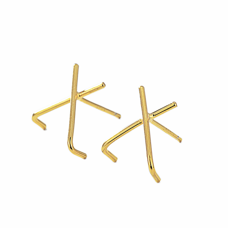 Minimalist X-Shaped Earrings for Matching Dainty Outfits