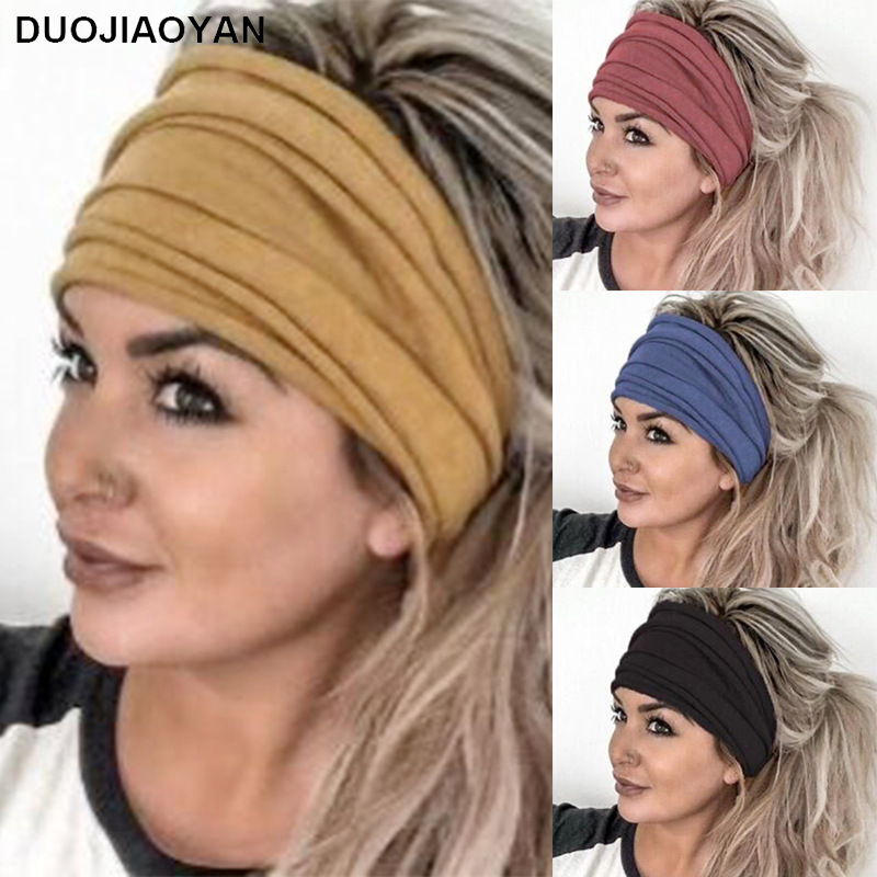 Comfy Wide Brim Hairband For Outdoor Sports And Yoga