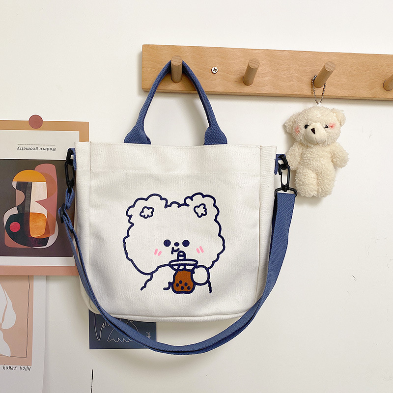 Charming Bear and Bunny Shoulder Bag for Adorable Casual Outfits