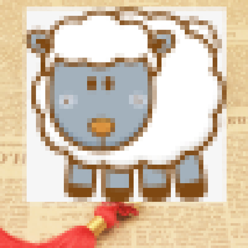 Cute Sheep Alloy Pendant Car Ornament for Gift Giving