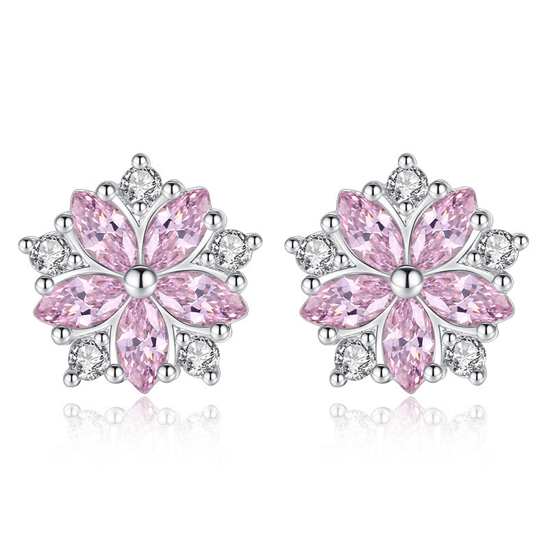 Pink Colored Small Earrings for Pretty Style