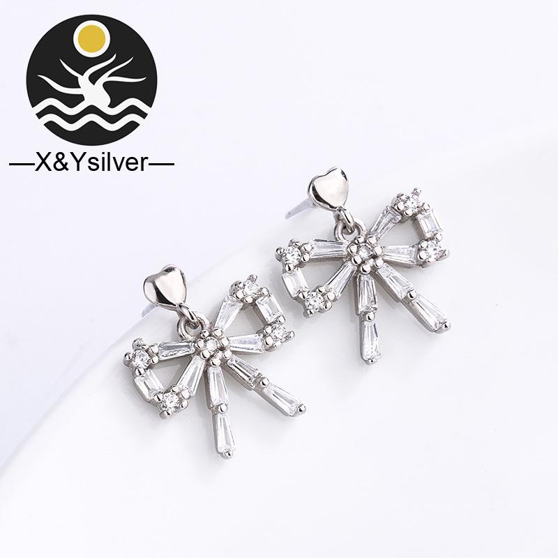 Elegant Bow-Shaped Earrings For Anniversary Gift