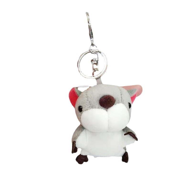 Adorable Tiny Squirrel Plush Keychain for Bag Ornament