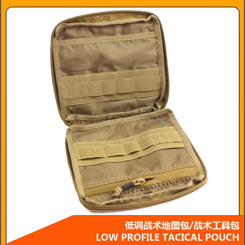 Useful Multi-Pocket Black/Brown Bag for Military Tools Storage
