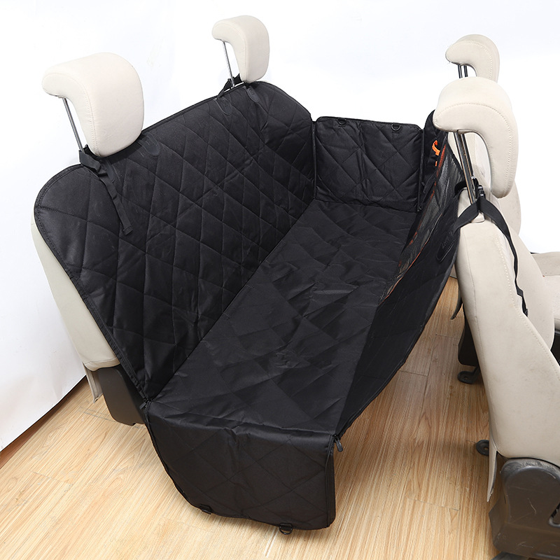 Quilted Waterproof Car Seat Pet Mat with Pockets for Bringing Pets to Travels