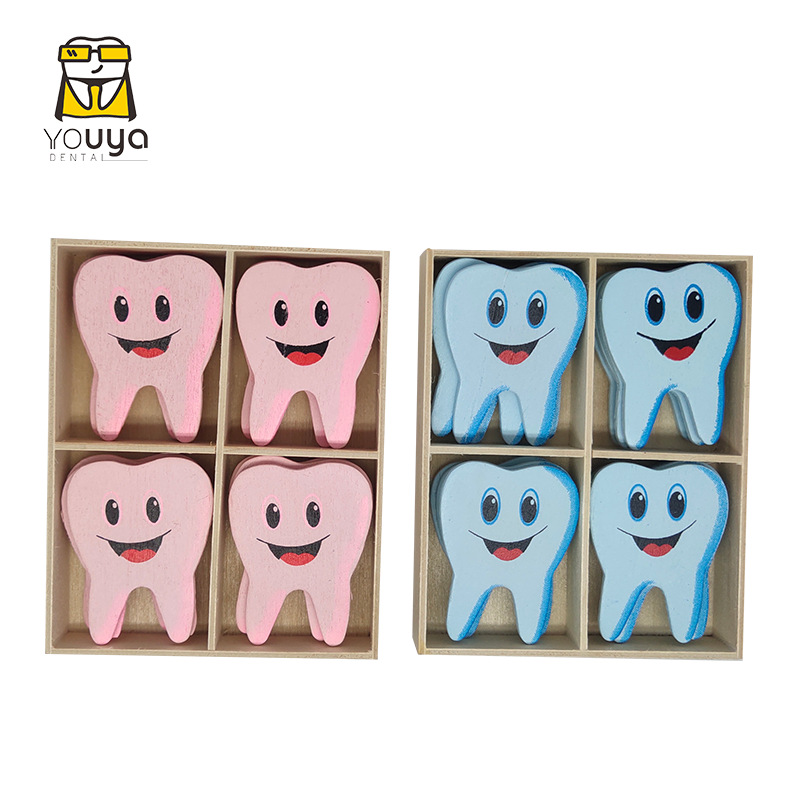 Smiling Cartoon Teeth Stickers for Children's Room Decoration