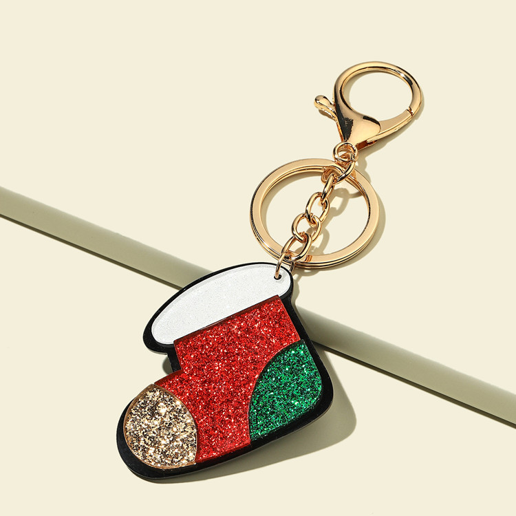 Shiny Christmas Series Keychain for Holiday Promo Gifts