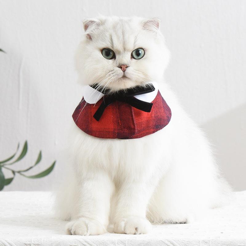 Elegant Small Collar Neck Dress for Pet Fashion Style