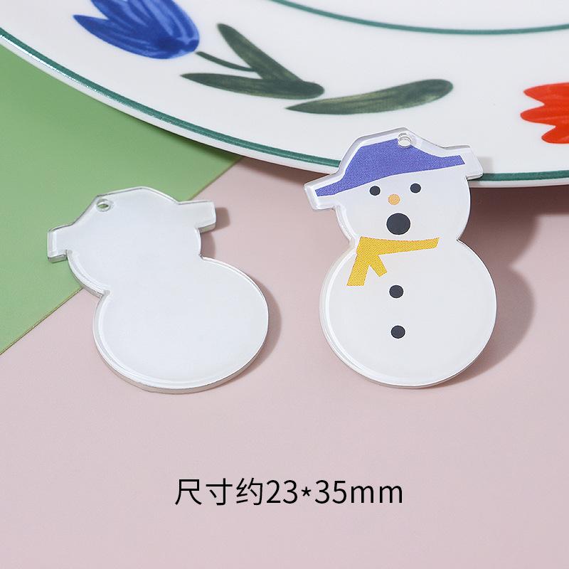 Charming and Nice Acrylic Pendant for DIY Christmas Gifts