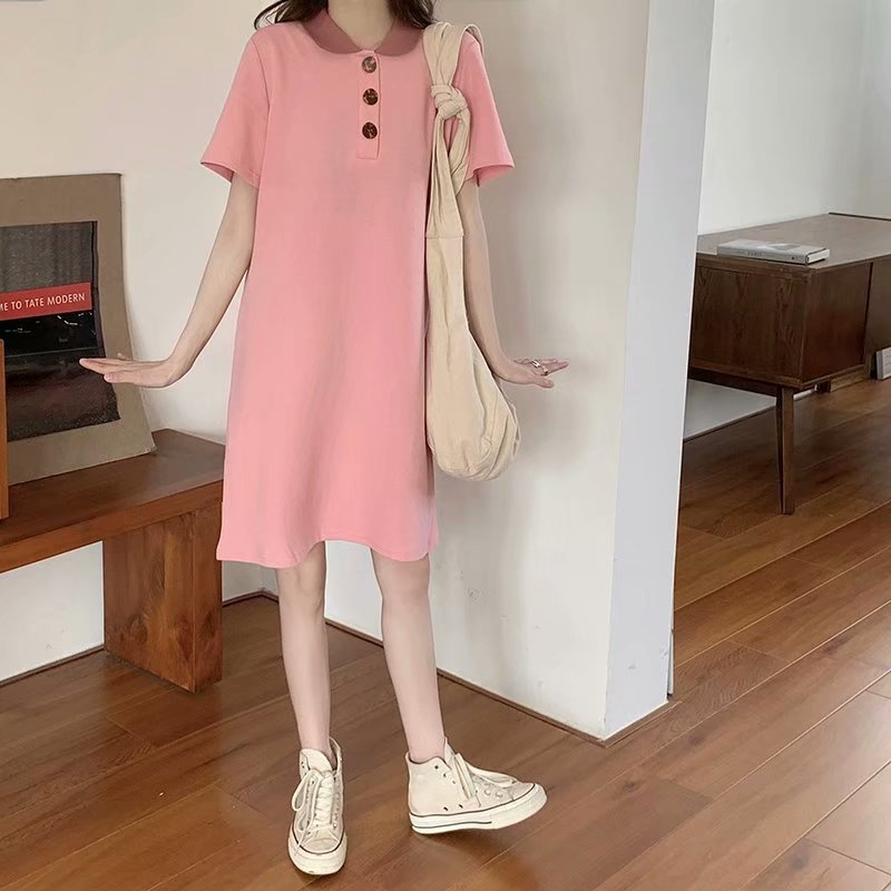 Dual Toned Polo Dress for Going to the Mall Outfits