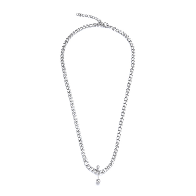 Titanium Steel Hip-Hop Necklace for Men's Fashion