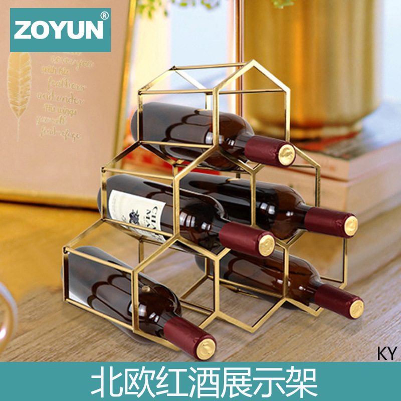 Stylish Metal Wine Rack for Holiday Essentials