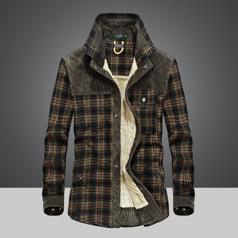 Rustic Plaid Snap Button Jacket for Cowboy Look