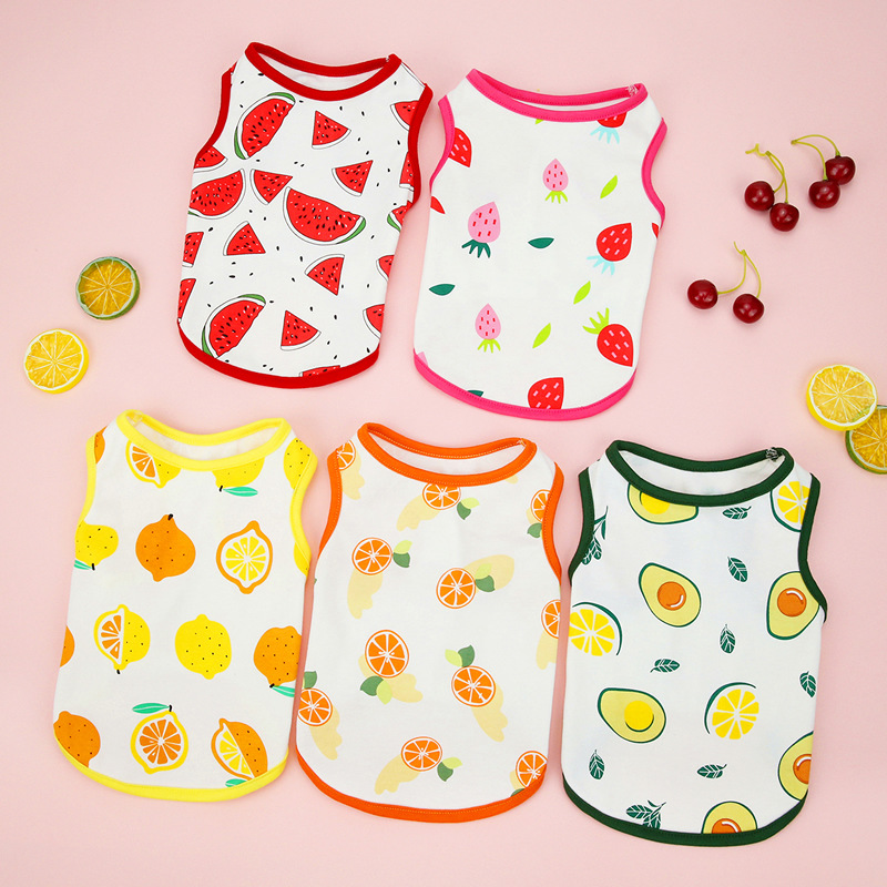 Cute Cotton Fruits Print Pet Clothes for Summer Outfit