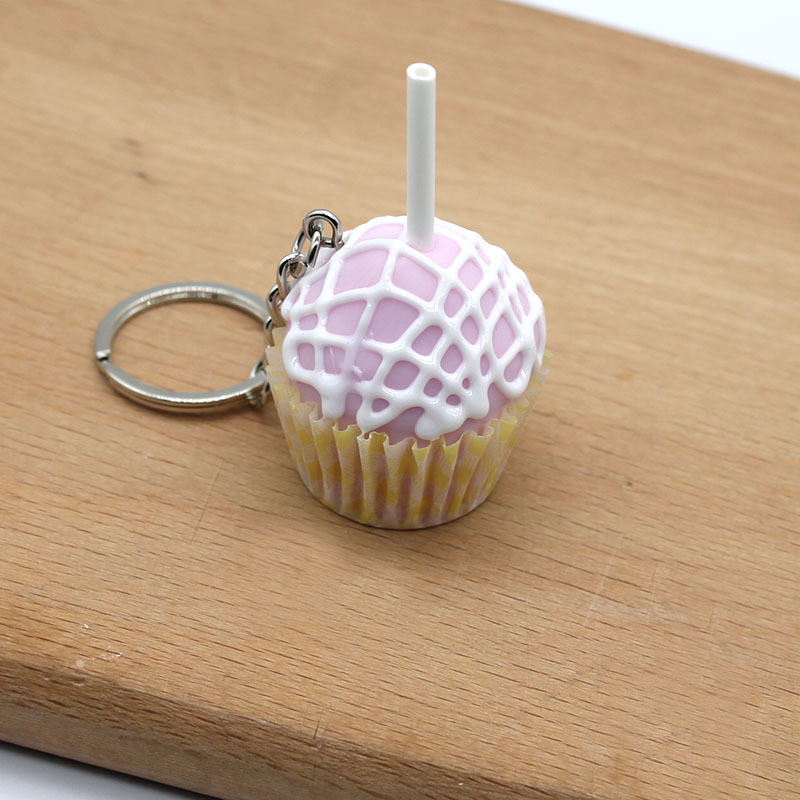 Adorable Lollipop Cupcake Keychain for Personal Use