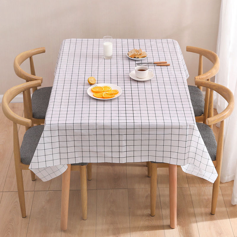Waterproof Plaid Tablecloth for Eclectic Home Décor