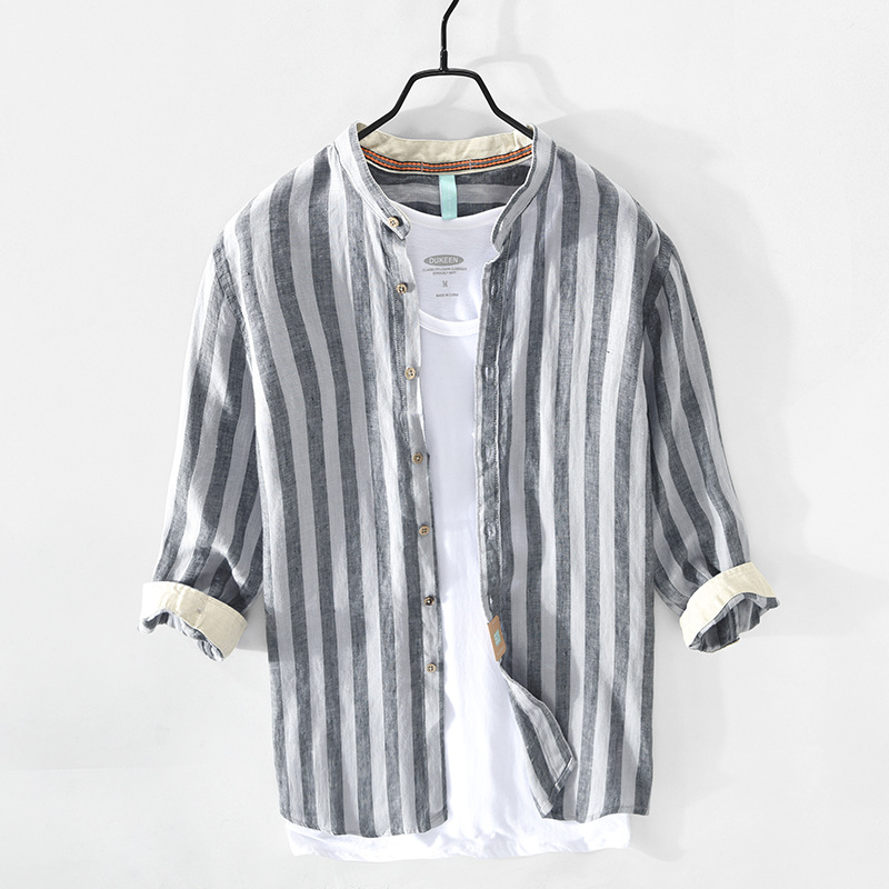 Casual Linen Striped Shirt for New Generation Fashion
