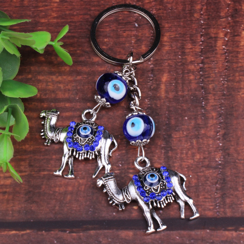 Cool Faux Diamond-Studded Camel/Owl Keychain for Souvenir Gifts