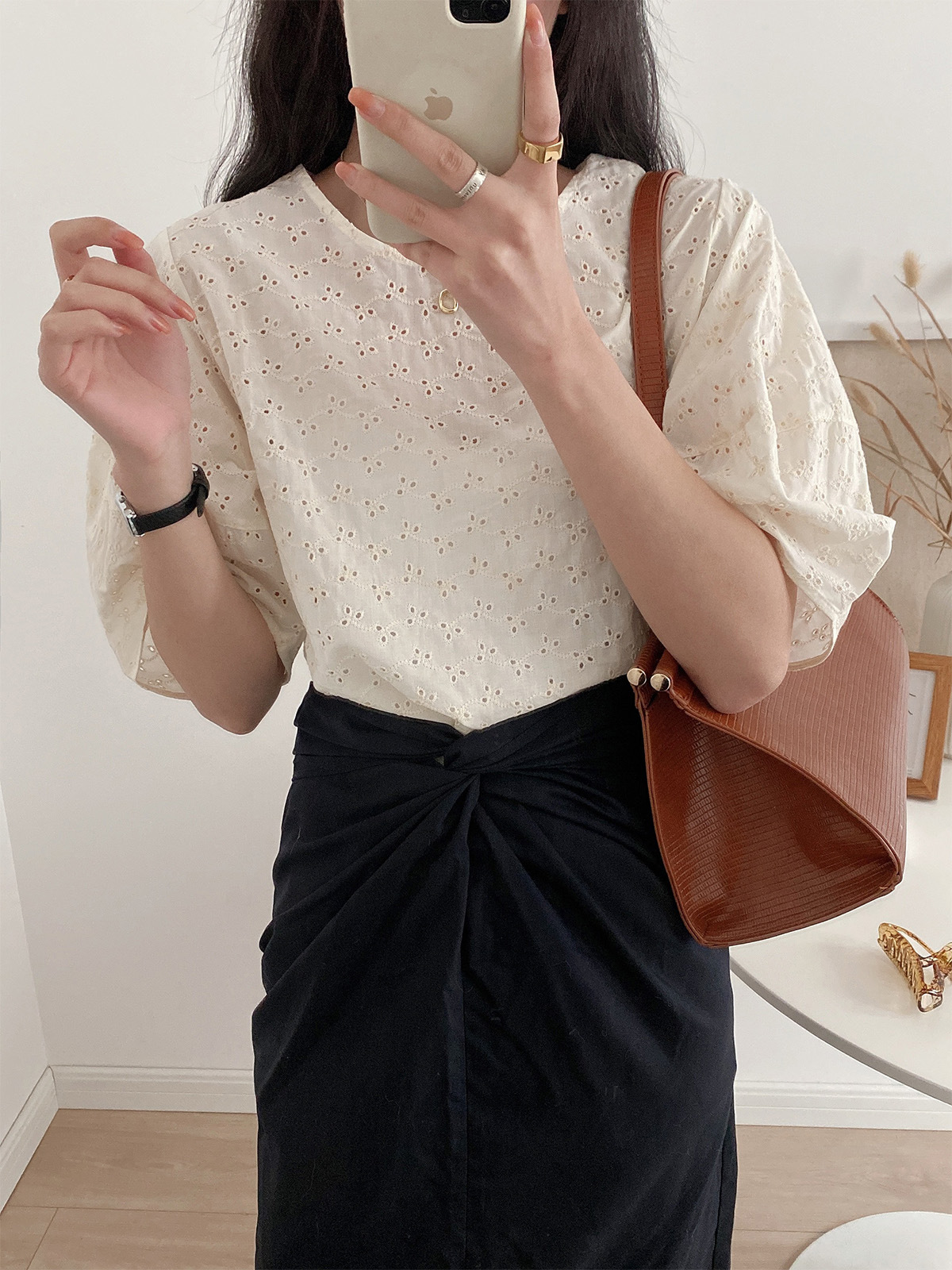 Classy Style Puff-Sleeves Shirt for Casual Wear