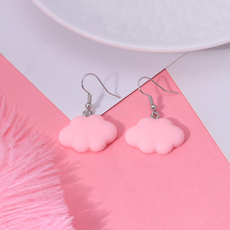 Cute Cloud/Animal Shape Fish Hook Earrings for Casual Wear